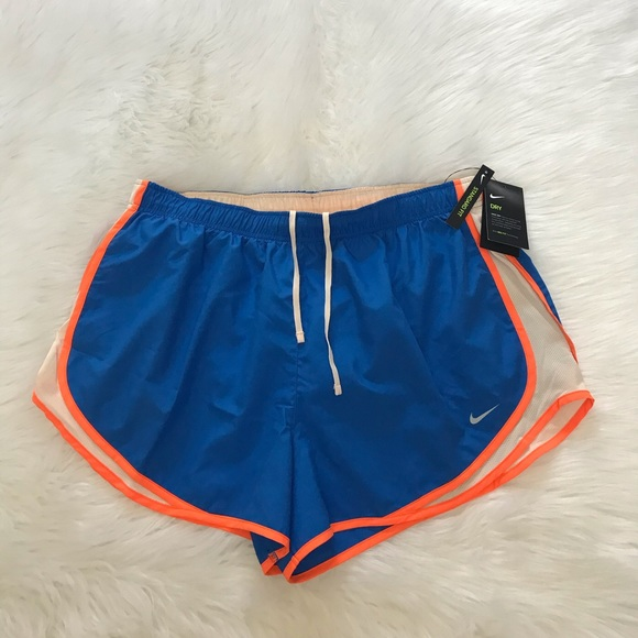 Nike Pants - NEW wTag-NIKE Blue w/Orange Trim Running Shorts 1X